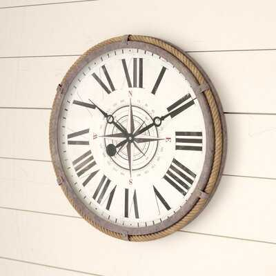 "Benner Nautical 17.5"" Wall Clock - Birch Lane"