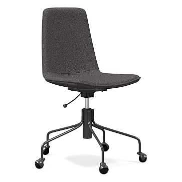 Slope Office Chair, Chenille Tweed, Slate - West Elm