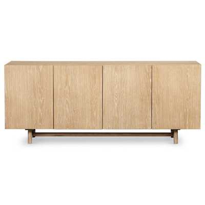Cameron Rustic Lodge Brown Oak Wood Dining Sideboard - Kathy Kuo Home