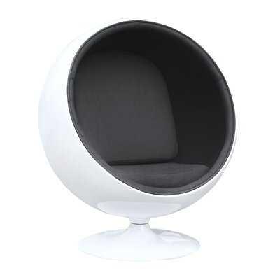 Evandale Balloon Chair, Black - Wayfair