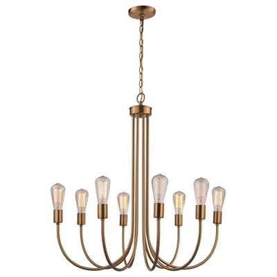 Bel Air Lighting 8 Light Antique Gold Chandelier - Home Depot