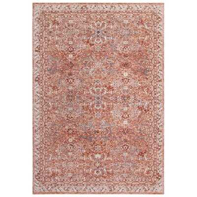 Belvoir Oriental Burnt Orange Area Rug - Wayfair