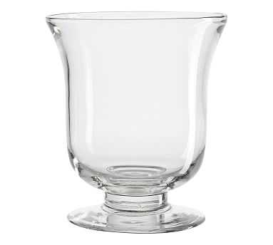 Clear Glass Footed Vase, Clear, Medium - Pottery Barn