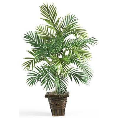 Silk Areca Palm Floor Plant with Planter - Wayfair