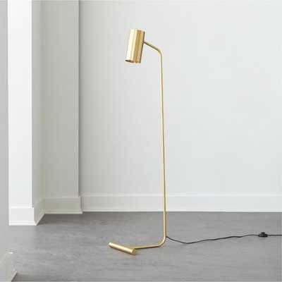 Eldon Task Brass Floor Lamp - CB2