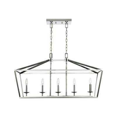 Angileh 5 - Light Unique Geometric Chandelier - Wayfair