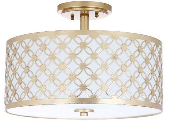 Hutch 3 Light 16-Inch Dia Flush Mount - Gold - Arlo Home - Arlo Home