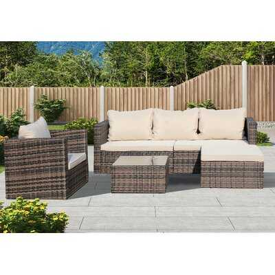 Rattan Patio Furniture Set Wicker Sofa Cushioned Sectional Furniture Set Garden Patio Sofa Set - Wayfair