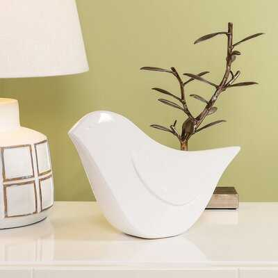 Ziebarth Finch Ceramic Bird Sculpture - Wayfair
