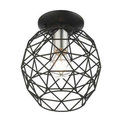 1 - Light 8'' Caged Geometric Flush Mount - Wayfair
