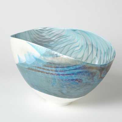 Global Views Swirl Oval Decorative Bowl - Perigold