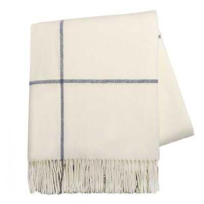 Windopane Italian Wool/Cashmere Throw - AllModern