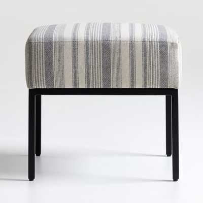 Pax Grey Natural Ottoman - Crate and Barrel