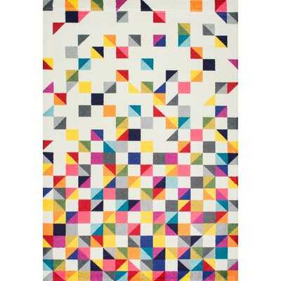 Portwood Geometric Off-White Area Rug - Wayfair