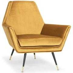 Vanessa Chair, Mustard - High Fashion Home