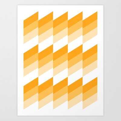 Modern Geometric 79 Yellow Art Print by The Old Art Studio - MEDIUM - Society6