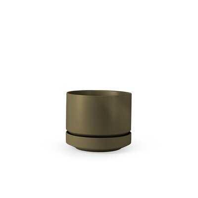 Round Stoneware Pot Planter - AllModern