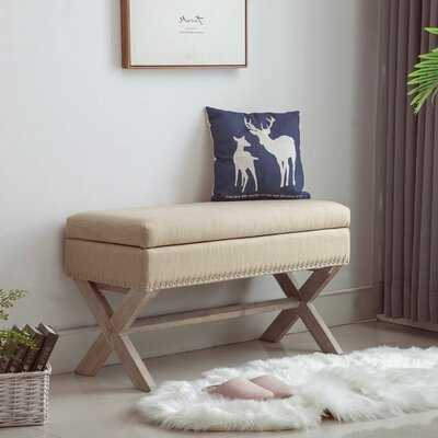 Wollano Upholstered Storage Bench - Wayfair
