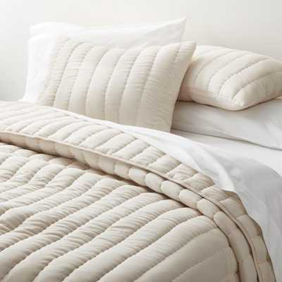 Olney Cream King Quilt - Crate and Barrel