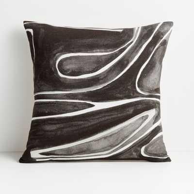 "Alentsie 20"" Black Cotton Pillow Cover - Crate and Barrel"