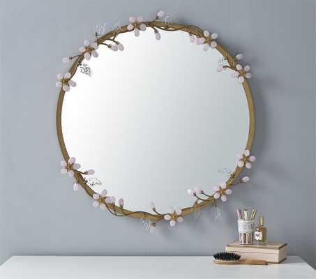 Grace Flower Mirror, Pink - Pottery Barn Kids