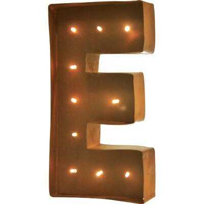 "Altum Rustic Vintage Letter LED Marquee Sign ""E"" - Wayfair"