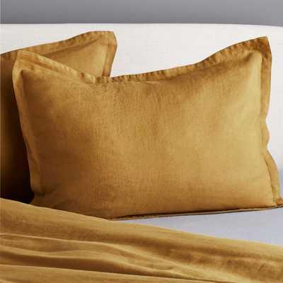 Linen Dijon Standard Shams Set of 2 - CB2