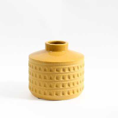 Yellow Ceramic Table Vase - Wayfair