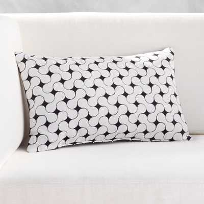 """20""""x12"""" Forme Black and White Outdoor Pillow - CB2"""