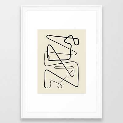 Movements Framed Art Print by Grace - Scoop White - SMALL-15x21 - Society6