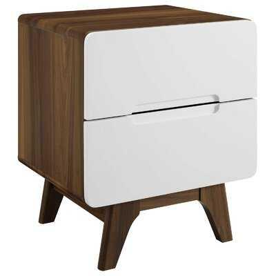 Conrad Wood 2 Drawer Nightstand - Wayfair