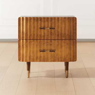 Crimped Gold Leaf Nightstand - CB2