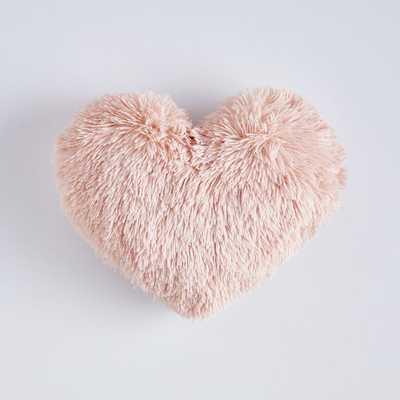 St. Jude Fluffy Heart Pillow, One Size, Quartz Blush - Pottery Barn Teen