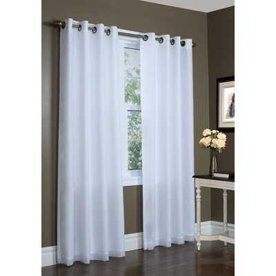 Hyde Solid Color Semi-Sheer Thermal Grommet Single Curtain Panel - Birch Lane