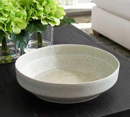 "Reactive Glaze Decorative Bowl, White, 12""W - Pottery Barn"