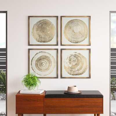 Cuore Legno 4 Piece Picture Frame Graphic Art Set - AllModern
