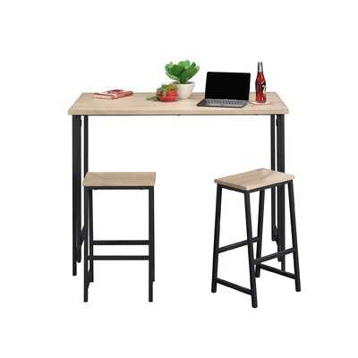 Brett 3 Piece Counter Height Drop Leaf Dining Set - Wayfair