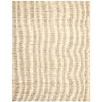Washed Stripes Jute Rug, 9'x12', Natural & Ivory - West Elm
