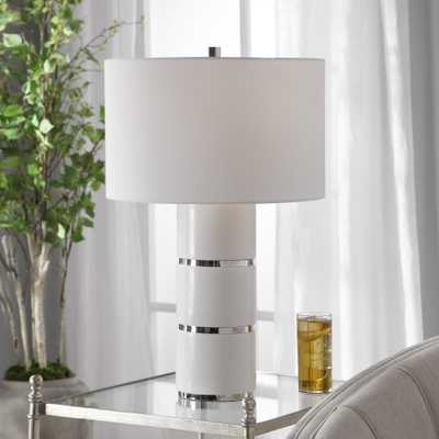 Grania White Marble Table Lamp - Hudsonhill Foundry