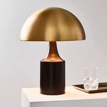 Hudson Table Lamp, Brass & Dark Bronze, Set of 2 - West Elm