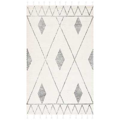 Seidel Southwestern Wool Ivory/Black Area Rug - Wayfair