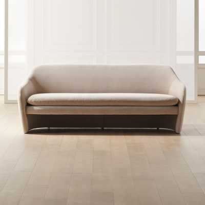 Pavia Grey Loveseat - CB2