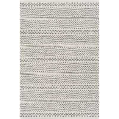 Capen Southwestern Cotton Charcoal/Ivory Area Rug - Wayfair
