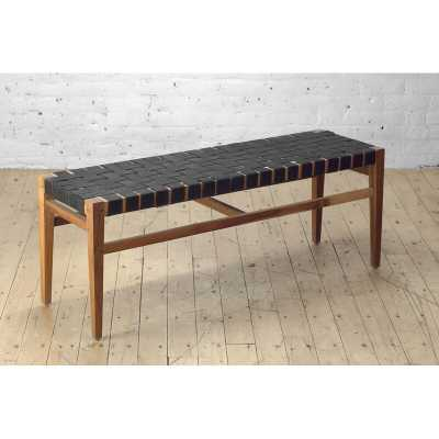 "From the Source Grasshopper Solid Wood Bench Size: 17.5"" H x 46"" W x 14"" D - Perigold"