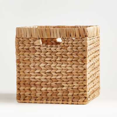 "Natural Wonderful Wicker 11"" Cube - Crate and Barrel"