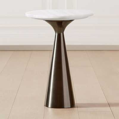 Nina Large Rose Quartz Side Table - CB2