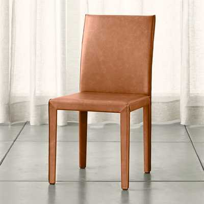 Folio Whiskey Top-Grain Leather Dining Chair - Crate and Barrel