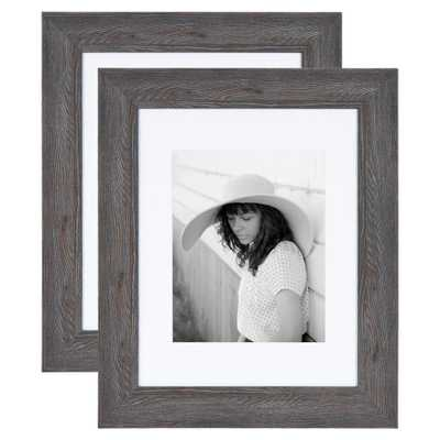 Kate and Laurel Edson 11 in. x 14 in. matted to 8 in. x 10 in. Gray Picture Frames (Set of 2) - Home Depot