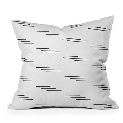 "Minimal Lines by Kelly Haines - Outdoor Throw Pillow 26"" x 26"" - Wander Print Co."