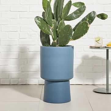 Bishop Planter, Tall, Midnight - West Elm